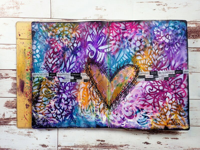 Heart Art Journal Page