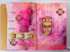 Who am I? | Art Journal Page | Whimsical Photo collage