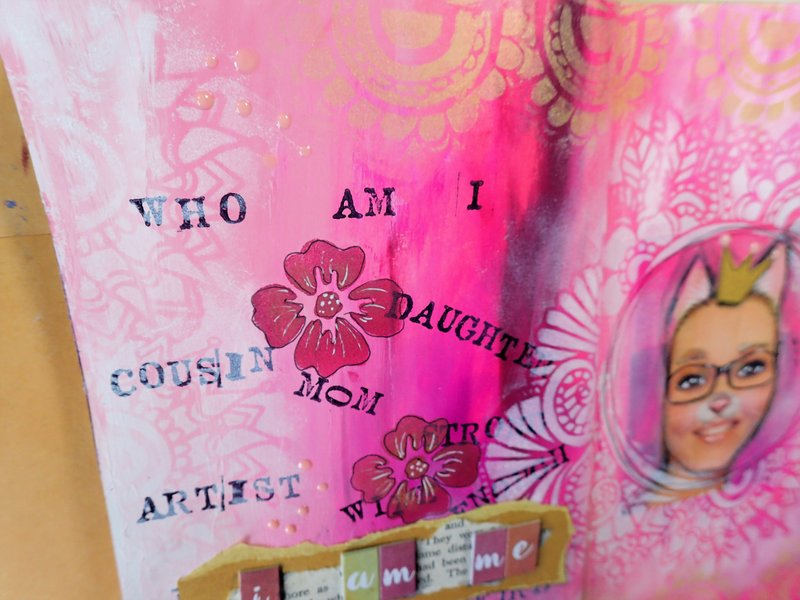 Who am I?   Art Journal Page   Whimsical Photo collage