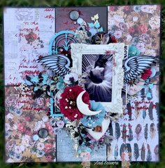 Memory Keeping Mixed Media Layout