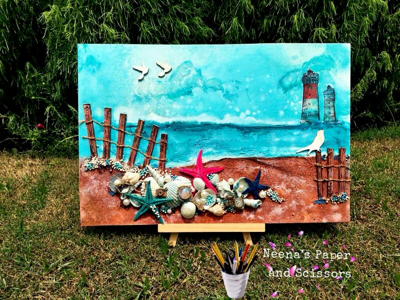 Mixed Media beach layout