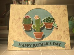 Father's Day Cactus card