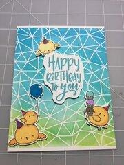 Chicks birthday card