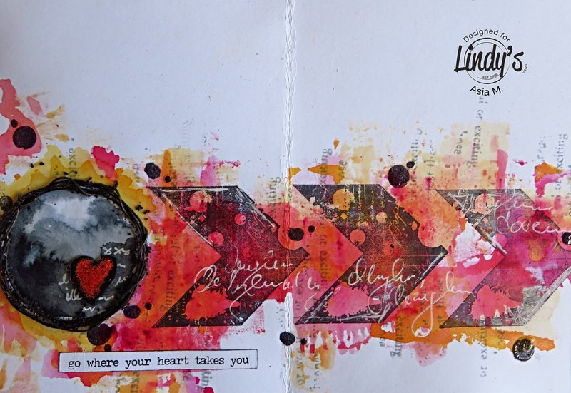 Art journal page for Lindy's Gang, Asia Marquet