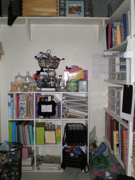 28-Day Challenge - Scrapbook Supplies Closet (Before)
