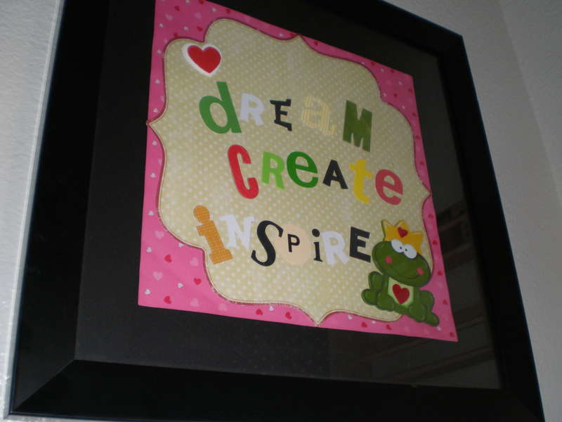 28-Day Challenge - Framed Sign Project - Dream, Create, Inspire!