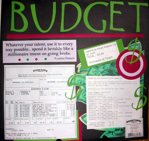 Budget LO Challenge - The Month of January