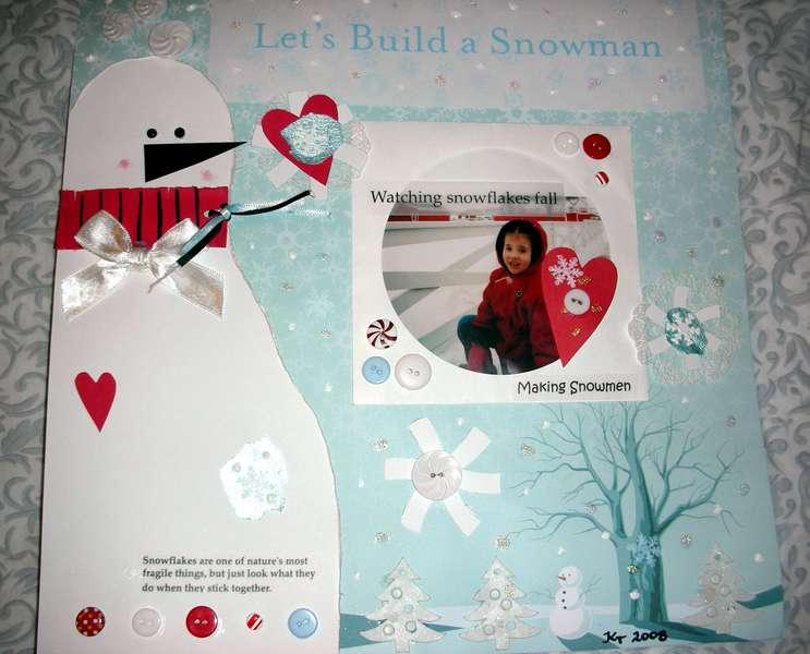 January Color Challenge - White - Let's Build A Snowman