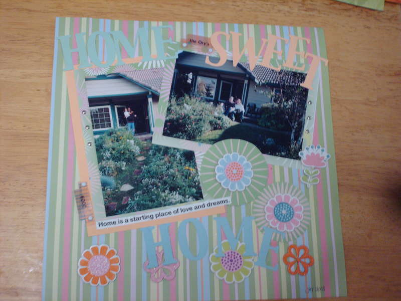 February Color Challenge - Home Sweet Home