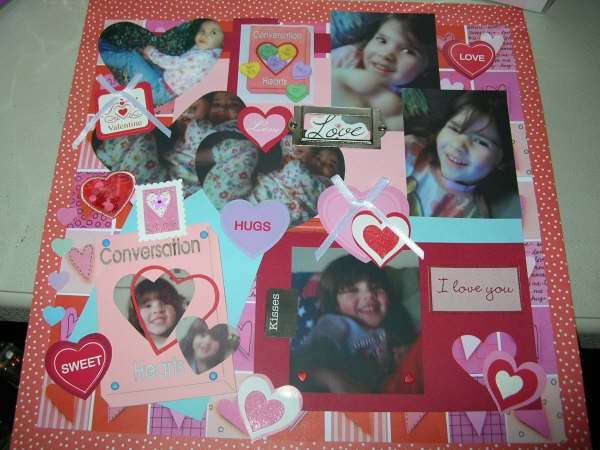 February Layout - Valentine Sweethearts
