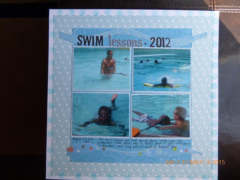 Swim lessons 2012