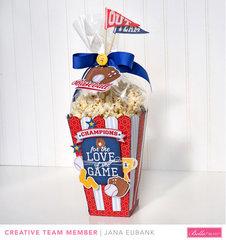 Large Baseball Popcorn Treat Box