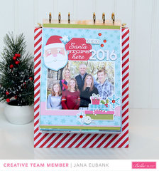 Santa Stops Here 2016 Christmas Mini Album