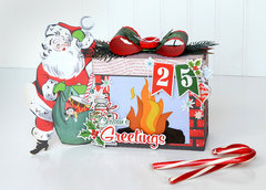 Santa Fireplace Gift Box