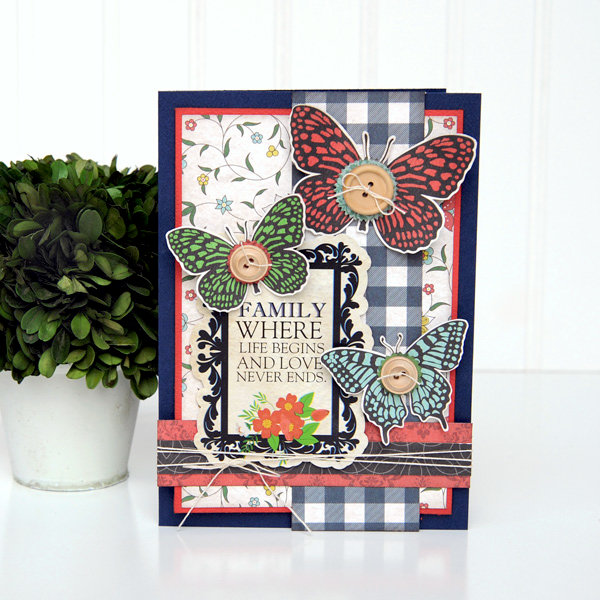 Family Butterfly Card