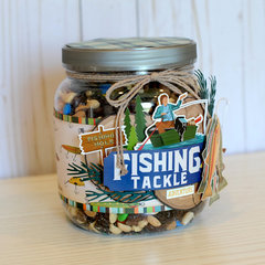 Decorated Jar of Trail Mix