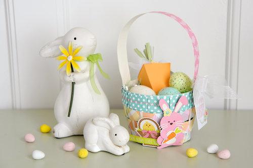 Echo Park Paper Die Cut Easter Basket