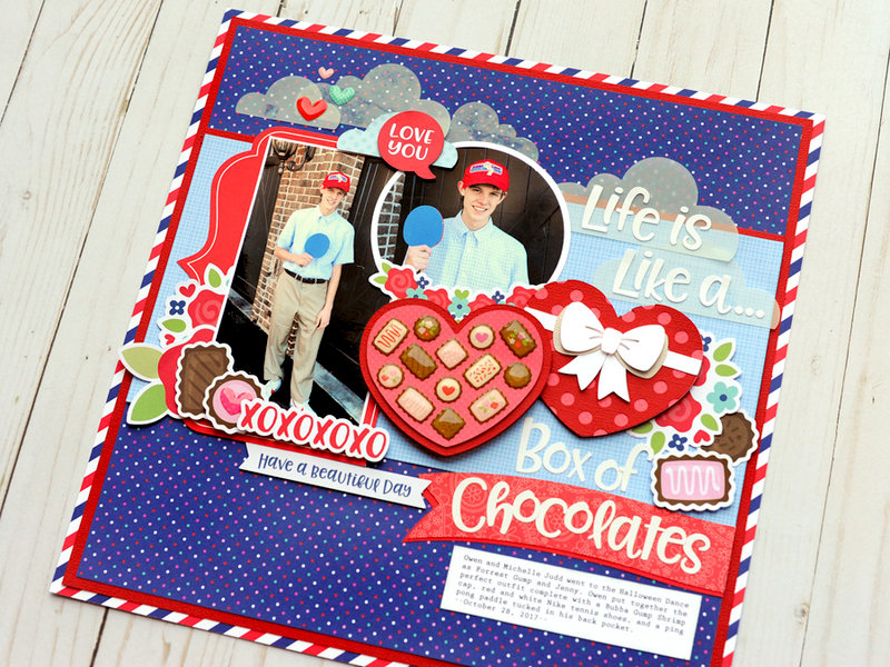 Doodlebug French Kiss Collection - Box of Chocolates Page