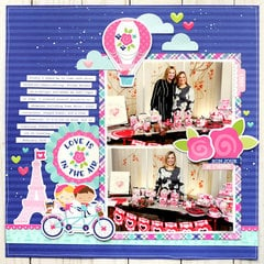 Doodlebug French Kiss - Love Is In the Air Layout