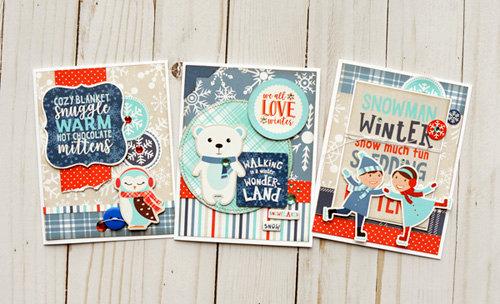 Echo Park Celebrate Winter Card Trio