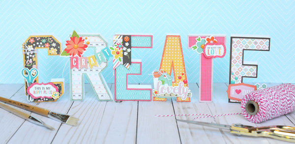 CREATE 3d Letters Home Decor