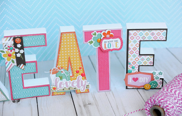CREATE 3d Letters Home Decor