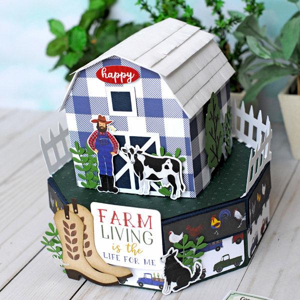 Echo Park Down on the Farm Barn Gift Box