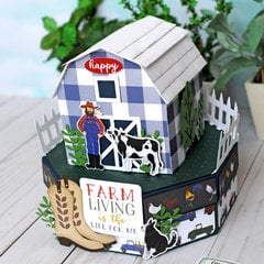 Echo Park Down on the Farm Barn Gift Box