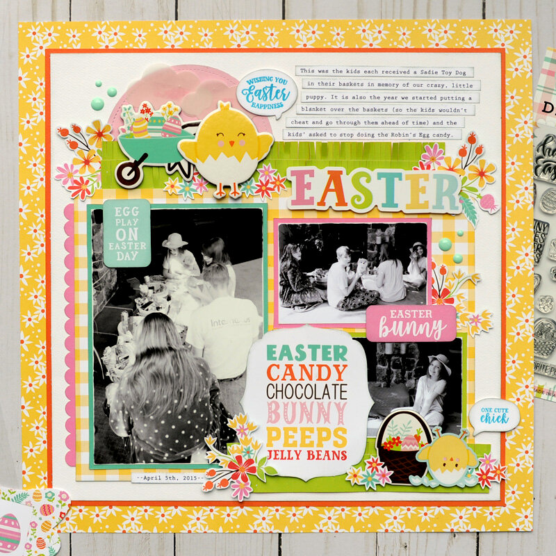 Echo Park Paper Easter Wishes - Easter Layout