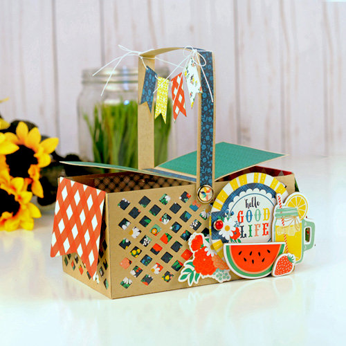 3D Picnic Basket Favor Box