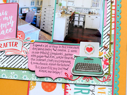 Echo Park I Heart Crafting - Happy Place Layout