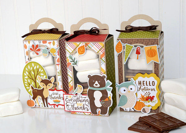 Echo Park Paper Fall Is In the Air Smores Treat Boxes