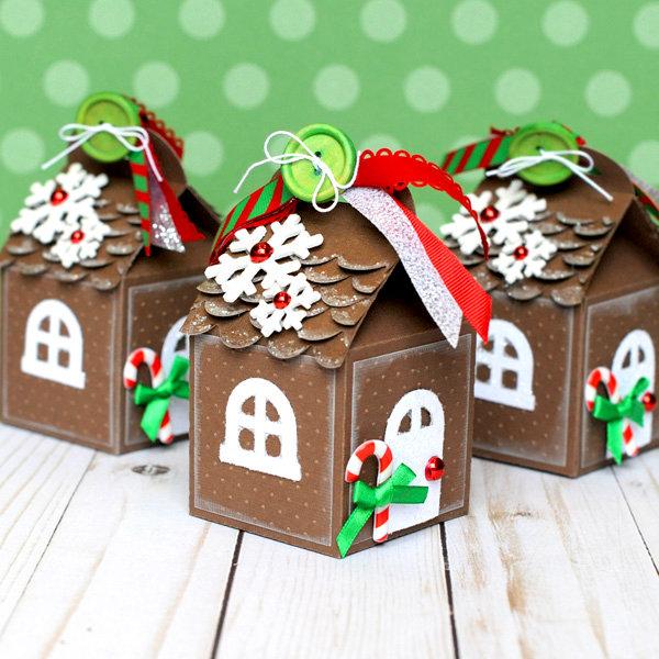 Gingerbread House Milk Carton Gift Boxes