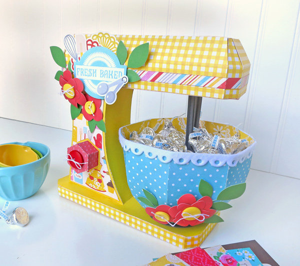 """Echo Park Paper """"Happiness is Homemade"""" 3D Kitchen Mixer"""