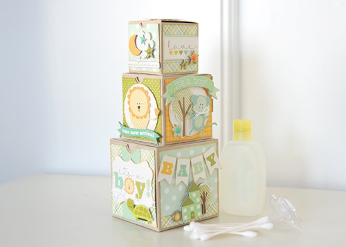 Carta Bella Paper Baby Boy Blocks