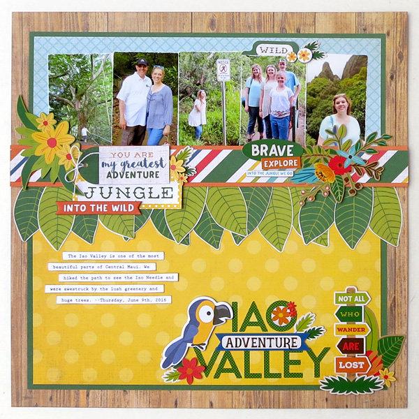 "Echo Park Jungle Safari ""Iao Valley"" Layout"