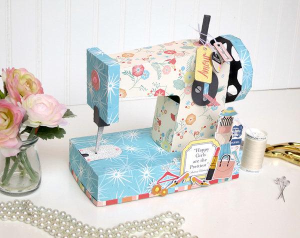 Carta Bella Metropolitan Girl Sewing Machine Gift Box