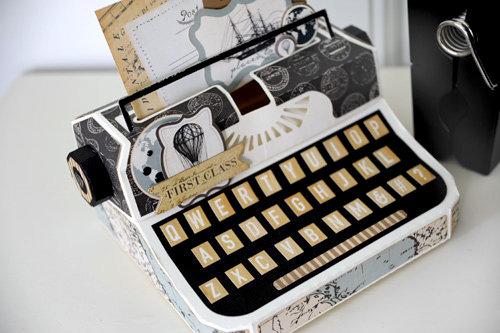 Carta Bella Paper Old World Travel Typewriter Box