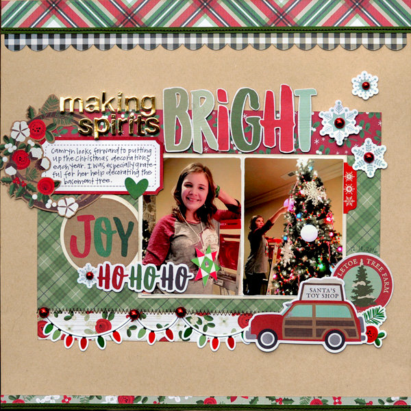 "Simple Stories Merry & Bright ""Making Spirits Bright"" Layout"