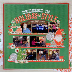 Pebbles Cozy and Bright Layout: Dressed in Holiday Style