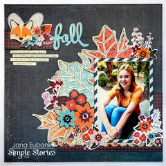 Simple Stories Forever Fall Layout - Fall