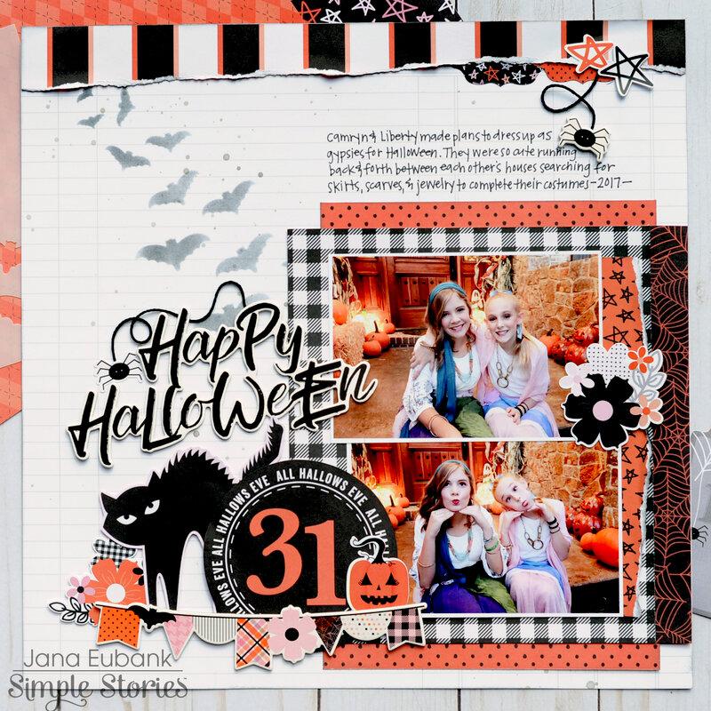 "Simple Stories Happy Haunting ""Happy Halloween"""
