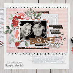 Simple Stories Kissing Booth - Love Layout