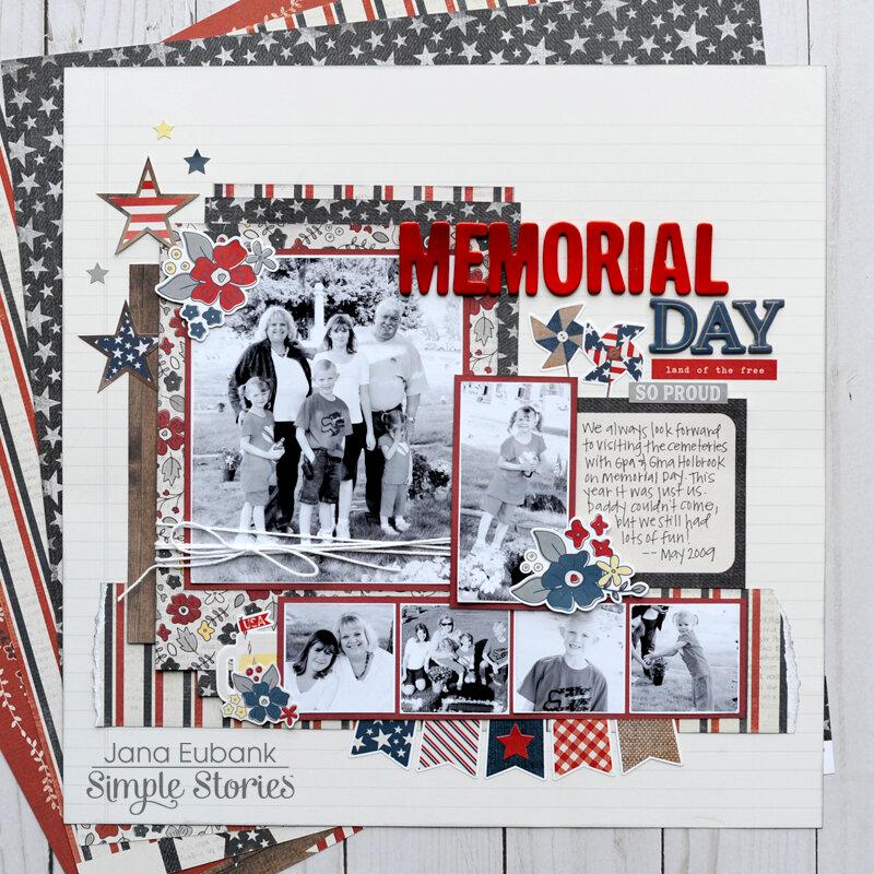 Simple Stories Let Freedom Ring - MEMORIAL DAY