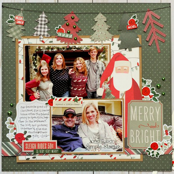 Simple Stories Merry & Bright Layout