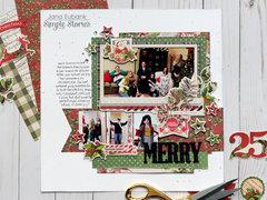 "Simple Stories Simple Vintage Christmas ""Merry"" Layout"