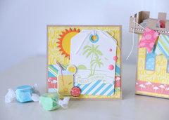 Echo Park Paper Summer Party Sandcastle & Card