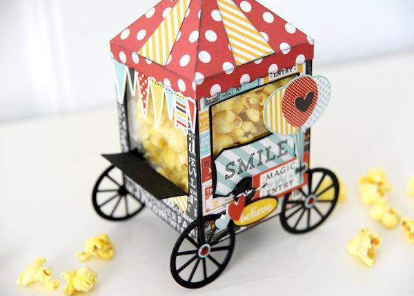 Echo Park Magical Adventure Popcorn Cart Treat Box
