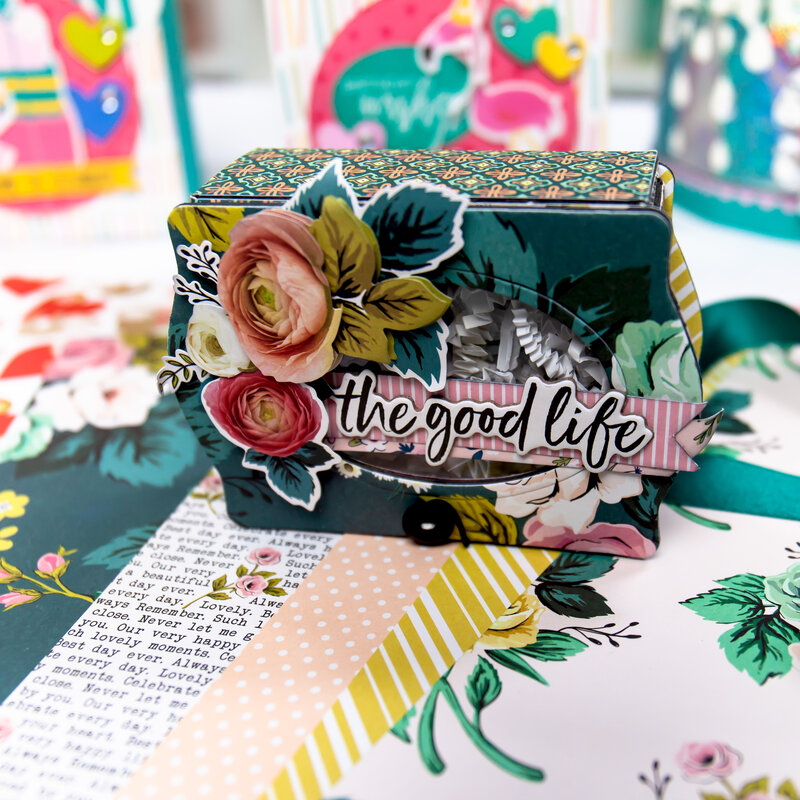 Mother's Day Gift Box and Flower Wristlet