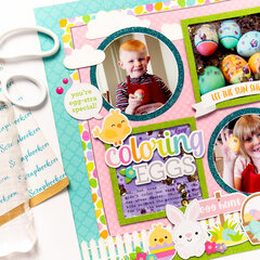 Coloring Eggs Easter Layout
